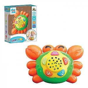 Carangueijo Musical Infantil Efeitos Sonoros Música e Luz Brinquedo Art Brink