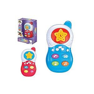 Celular Musical Infantil Brinquedo com efeitos sonoros música e luz Art Brink