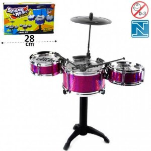 Mini Conjunto de Bateria Infantil Sound e Music World Rosa