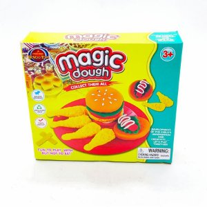 Massa de modelar Magic Dough 10 pçs Brinquedo Kit Cheff Massinha