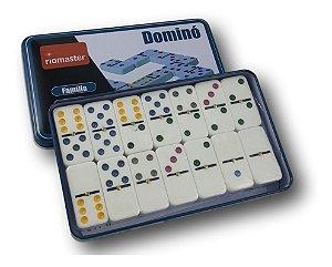 Jogo Domino na Lata Colorido com 28 peças Rio Master