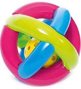 Brinquedo para Bebe Bola Maluquinha com Chocalho Merco Toys