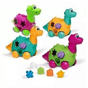 Brinquedo Educativo Baby Dinho com Formas Didáticas Calesita