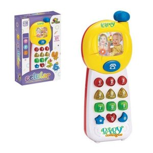 Celular Infantil Baby Colleague com Luz e Som Divertido Art Brink