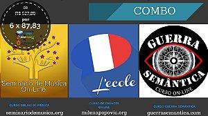 COMBO - Curso Online de Música - Curso de Frânces Online - Curso Online Guerra Semântica