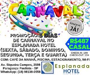 5 dias no Esplanada Hotel - Carnaval 2019