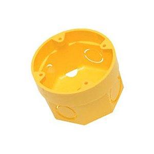 Amanco Eletrica Caixa de Luz Octogonal 3x3 Flex Amarela