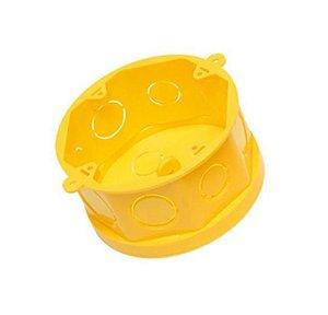 Amanco Eletrica Caixa de Luz Octogonal 4x4 Flex Amarela