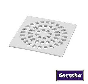 Dacunha Grelha Plastica Branca Fixa Quadrada Dn 150