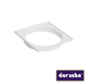 Dacunha Porta Grelha Plastico Branco Quadrado Dn 150