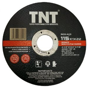Tnt Disco De Corte Inox 4.1/2 x 1.0mm P/ Esmerilhadeira