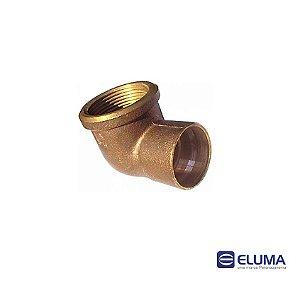 Eluma Cotovelo Femea N.10 Bronze Com Anel de Solda