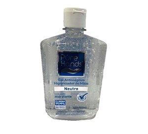 PURE HANDS ALCOOL EM GEL P/MAOS NEUTRO 500 ML