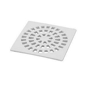 Dacunha Grelha Plastica Branca Fixa Quadrada Dn 100