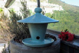 Comedouro de Cerâmica para Pássaros