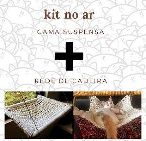 Kit No Ar Cama Suspensa de Janela e Rede de Cadeira em Maxi Crochê