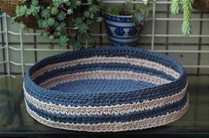 Cama Oval Estruturada de Maxi Croche