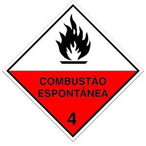 Placa de Sinalização Combustão Espontânea Plastcor