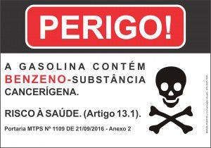 Placa Benzeno Substância Cancerígena Macrolub