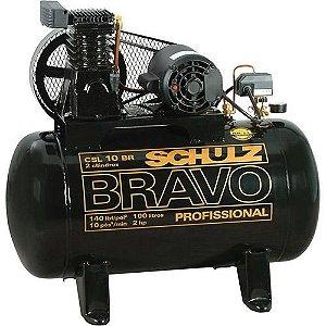 Compressor de Ar Profissional 100 Litros Csl 10br Bravo 110-220v Schulz