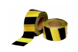 Fita Zebrada Preta-Amarela Plastcor