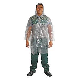 Capa de Chuva Transparente Com Capuz G Plastcor