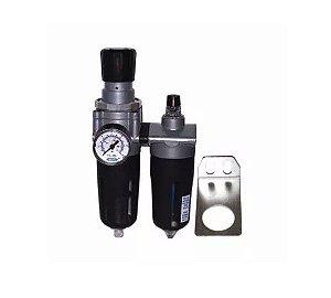 Filtro Regulador Lubrificador Com Manômetro Frl 2400 1-2 Steula