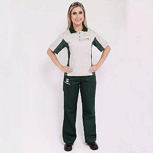 Br21 Uniforme Profissional Camisa Frentista Br Feminino Petrobras