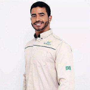 Br30 Uniforme Profissional Camisa Gerente Unissex Manga Longa Petrobras
