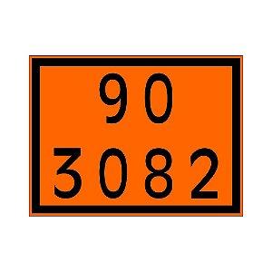 Placa de Sinalização 90 3082 30x40 Centímetros Simbologia Biodiesel Plastcor