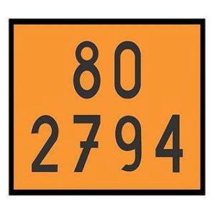 Placa Numerologia 80 3794 Baterias Elétricas 30x40 Centímetros  -Plastcor