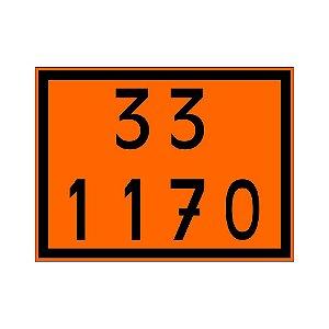 Placa de Sinalização 33 1170 30x40 Centímetros Simbologia Transporte de Álcool Plastcor