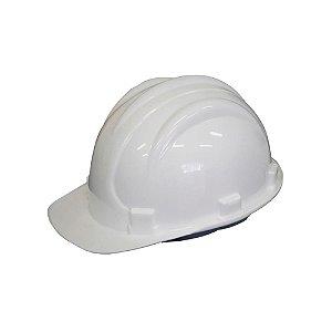 Capacete de Segurança Branco com Carneira Plastcor