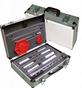 Kit de análise de Combustível 10 Desímetros com Maleta anti-choque em Alumínio Rivaterm