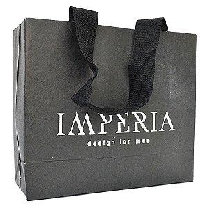 1.000 Sacolas Personalizadas - Papel Off-Set 180g - 1 Cor de Impressão - alça de gorgurão colada - 20x26x9