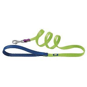 CLUB G COLOURS Guia de nylon para cães verde