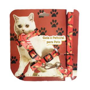 Peitoral coleira para gato