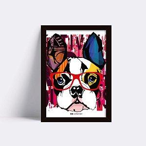 Quadro Bulldog Geek Grafite