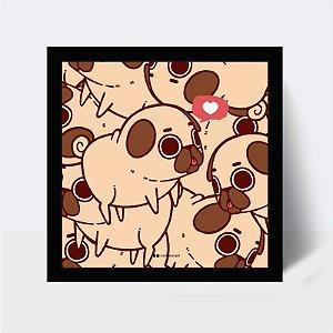 Quadro Pugs Love
