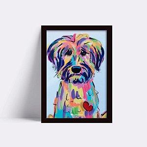 Quadro Dog Aquarela