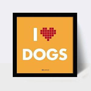 Quadro coração dogs