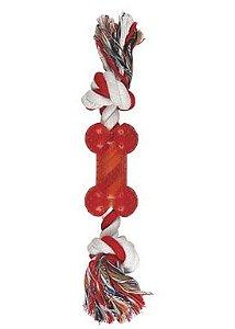 Brinquedo de corda com ossinho VERMELHO