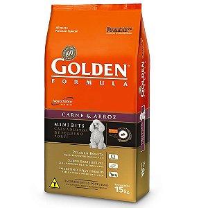 Ração Golden Formula Carne e Arroz para Cães Adultos Mini Bits