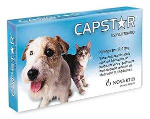 Antipulgas Novartis Capstar 11 mg para Cães e Gatos até 11,4 Kg