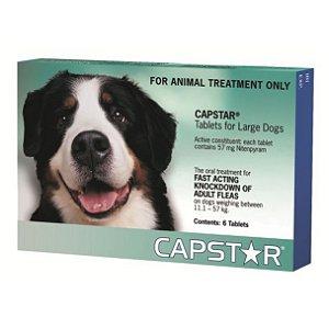 Antipulgas Novartis Capstar 57 mg para Cães acima de 11,4 Kg