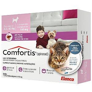 Antipulgas Elanco Comfortis 140 mg para Cães de 2,3 a 4 Kg e Gatos de 1,9 a 2,7 Kg