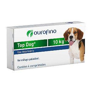 Vermifugo Ouro Fino Top Dog para Cães de até 10 Kg - 4 Comprimidos