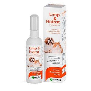 Solução Ouro Fino para Limpeza de Ouvidos Limp e Hidrat em Cães e Gatos - 100 ml