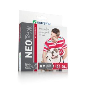 Antipulgas e Carrapatos Ouro Fino Neopet 1,34 mL para Cães de 10,1 até 20 Kg