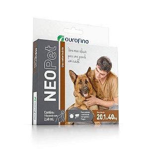 Antipulgas e Carrapatos Ouro Fino Neopet 2,68 mL para Cães de 20,1 até 40 Kg